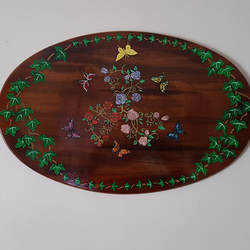 Roses and Butterflies Plaque