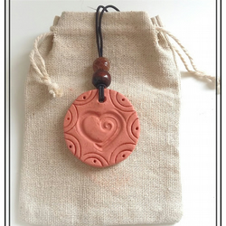 Aromatherapy Diffuser Clay Pendant Necklace