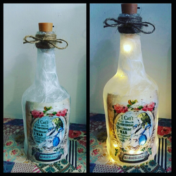 alice in wonderland bottlelamp