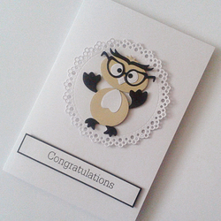 Graduation Card with funny owl