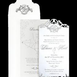 Mirrored Acrylic Wedding Invitations