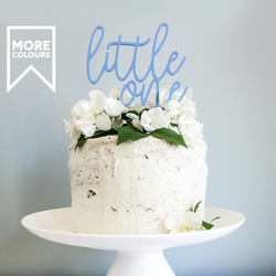 Little One Birthday Cake Topper - Baby Shower Cake Topper