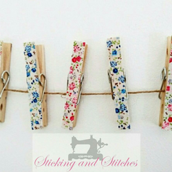 Handmade decorative wooden pegs, notice board pegs, magnetic pegs