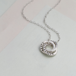 Personalised Sterling Silver Mini Russian Ring Necklace