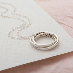 Personalised Silver Secret Russian Ring Necklace