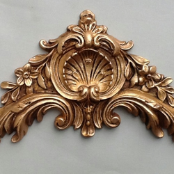 Ornate decorative pediment shabby chic embellishment