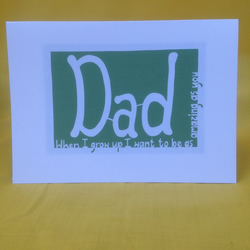 """Dad"" Father's day or Birthday card"