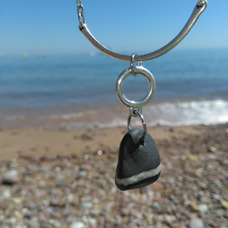 Contemporary Exmouth Pebble Necklace.
