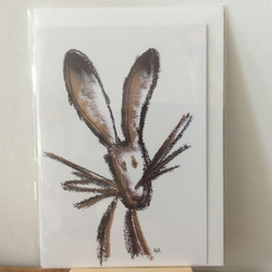 Hare greetings card - blank