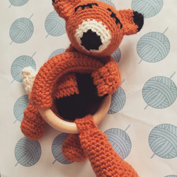 Soother and teether gift set Tails the Fox