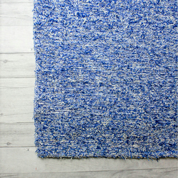 120x160 cm. 4' x 5'3 Blue rug Handwoven Up-cycled & Washable rug