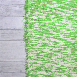 65x240 cm. 2' x 8' Green rug Handwoven Up-cycled & Washable rug