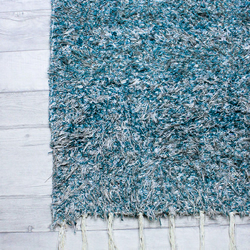 60x120 cm. 2' x 4' Green Teal  rug Handwoven Up-cycled & Washable rug