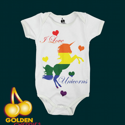 Pride unicorn Bodysuit Onesie or Tshirt