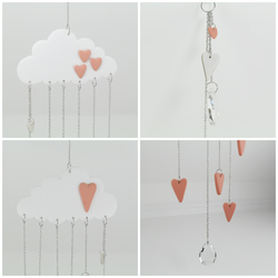 Baby Mobile, Cloud Mobile, Cloud Decor, Hanging Mobile, Nursery Crib Mobile
