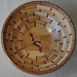 Inlayed Segmented Wood Turned Bowl