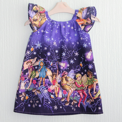 Flutter sleeve dress flower fairy dress