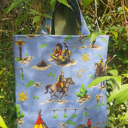 Cowboys and Indians Kids Book Bag