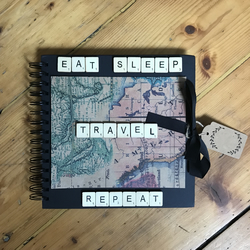 scrapbook travel book travel adventures handmade memory book photo album