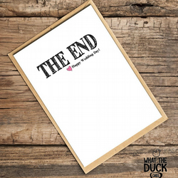 'The End' Wedding Card, What The Duck Cards, Funny Cards, Rude Cards