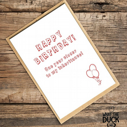 'Inherit' Birthday Card, What The Duck Cards, Funny Cards, Rude Cards