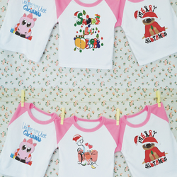 Christmas Baby T-shirt Set