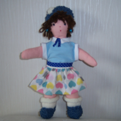 small traditional cloth doll