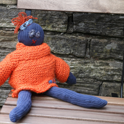 TRG Collectable, Handmade fabric doll with knitted removable jumper.