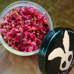 Floral Love Bath Salts - Glitter - Rose Bath Salt - Handmade - Luxury Gift