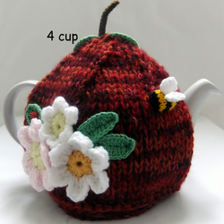 Red Russett Apple 4 cup tea cosy