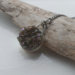 Druzy Crystal Stone Set Necklace