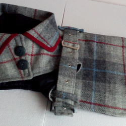 Dog coat smart warm Tartan Harris Tweed