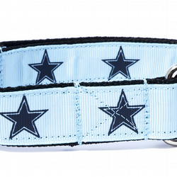 Medium Boy's Star Design Handmade Dog Collar