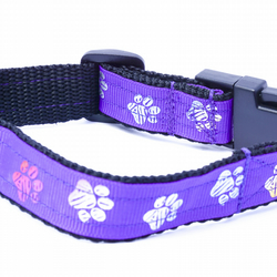 Small Bling Paw Print Handmade Dog Collar
