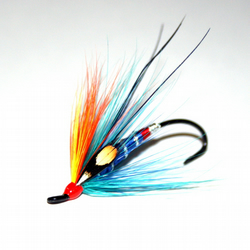 "Salmon Fly Pin - ""Kingfisher"" Salmon Fly Pin"