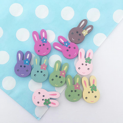 Cute Bunny Wooden Buttons