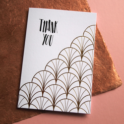 Say it in Gold with an Art Deco Thank You Card