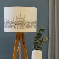 Pavilion Grey Drum Lampshade - handmade lampshade - home decor