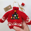 Custom Order for Marie - Mini Knitted Christmas Tree Jumper Hanging Decoration