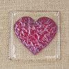 Love Heart Fused Glass Coasters