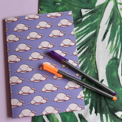 Blob Fish A5 Plain Notebook - Animal Gift - Stationery - Unusual Animal