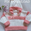 Kniting pattern for Baby, Childs Hoodie. April Hoody, Jumper, Sweater