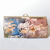 Smart clutch bag with horse images on batik fabric