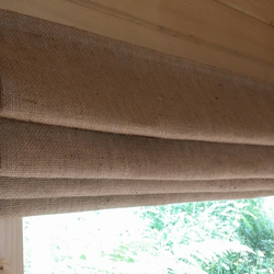 Made to order Hessian interlined Roman Blind
