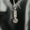 Long Sterling Silver Chainmaille Earrings