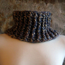 Ribbed Turtleneck Cowl Unisex - Crochet Pattern - Haiti Appeal