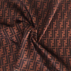 Luxury Fendi Style silky satin Fabric