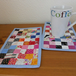 Mug Rugs, Quilted, Set of 2
