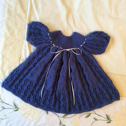 Hand knitted blue dress.party dress.
