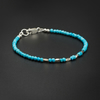Natural turquoise and sterling silver layering bracelet, Turquoise jewellery